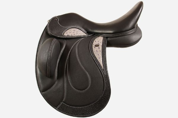 18 Inch Dressage Saddle With Style 403  With Adjustable Fixed Block